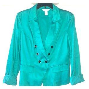 White House Black Market Teal Jacket